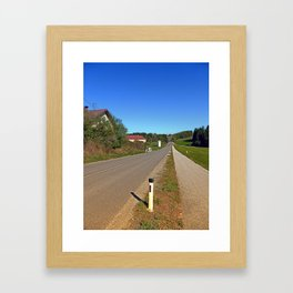 A long non-winding road | landscape photography Framed Art Print