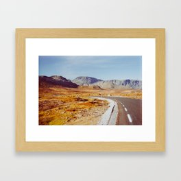 Road Tripping in Scandinavia - Jotunheimen NP on Sunny Fall Day Framed Art Print