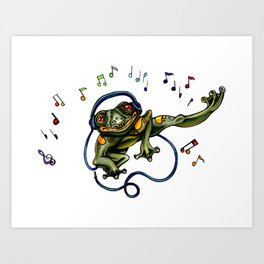 Frog Dancer Art Print
