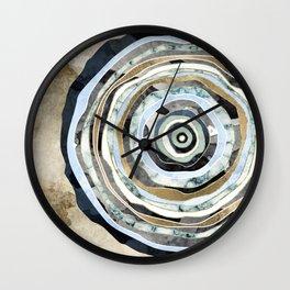 Wood Slice Abstract Wall Clock