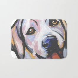 Yellow Lab Labrador Retriever Dog Portrait Pop Art painting by Lea Bath Mat