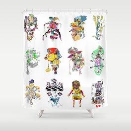 CutOuts - Ensemble Shower Curtain