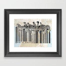 Zebra Barcode Framed Art Print