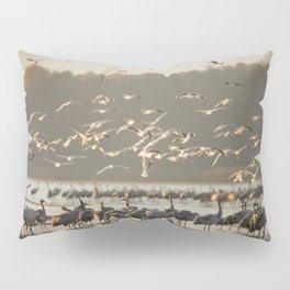Common Cranes at sunrise Pillow Sham