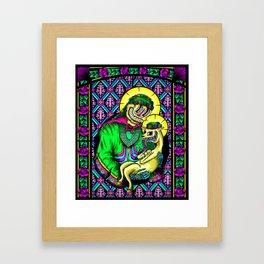 The Holy Alpaca Framed Art Print