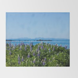 Scenic Alaskan Photography Print Throw Blanket