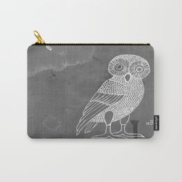 ATHENA'S OWL IN GREY BACKGROUND  Carry-All Pouch