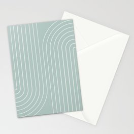 Minimal Line Curvature - Sage Stationery Cards