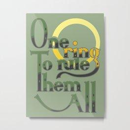 One Ring Metal Print