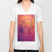 regina mills V-neck T-shirts featuring Salve Regina by Joe Ganech