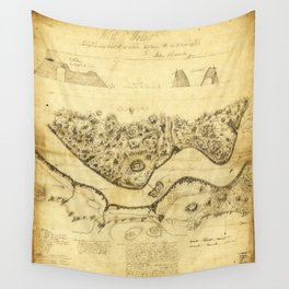 Original West Point Survey Map October 24th-27th 1783 Wall Tapestry