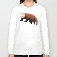 red panda Long Sleeve T-shirts featuring Red Panda by Ben Geiger
