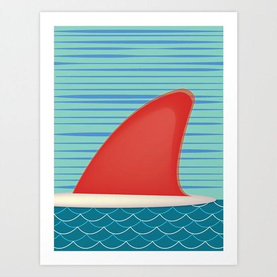 Single Fin Art Print