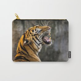 Magnificent Beautiful Scary Jungle Tiger Close Up UHD Carry-All Pouch