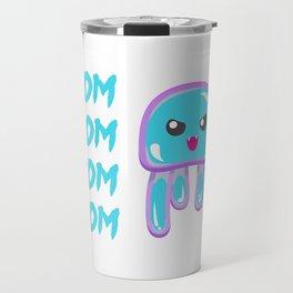 Nom Nom Nom Nom Nom Jellyfish Travel Mug