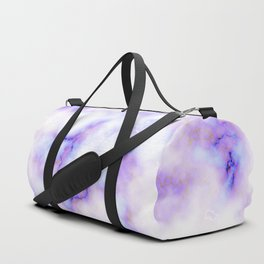 Pattern of purple marble Duffle Bag