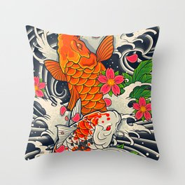 Art of Koi Fish Leggings Throw Pillow