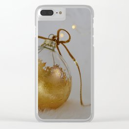 Golden Christmas Ball with Small Lights Clear iPhone Case