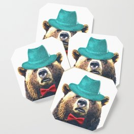 Funny Bear Illustration Coaster