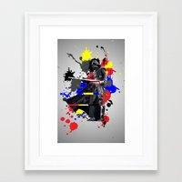 vader Framed Art Prints featuring VADER by vicotera