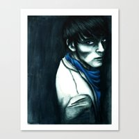 merlin Canvas Prints featuring Merlin by The Hopeful Raincoat