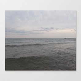 Distant Lighthouse on Lake Michigan Canvas Print