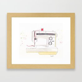 Vintage Kenmore 158.1760 Sewing Machine with Red Spool Framed Art Print