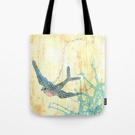 Birds of blue Tote Bag
