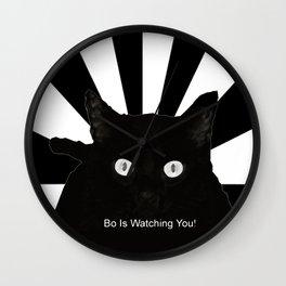 Bo Is Watching You! Wall Clock