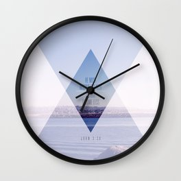 Greater//Less Wall Clock