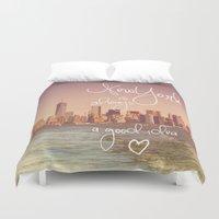 new york Duvet Covers featuring NEW YORK NEW YORK by SUNLIGHT STUDIOS  Monika Strigel