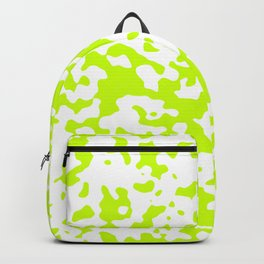 Spots - White and Fluorescent Yellow Backpack