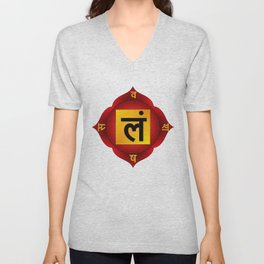Muladhara Chakra Unisex V-Neck