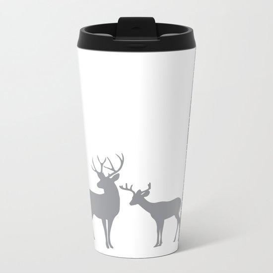 Lonely Deer No. 2 Metal Travel Mug
