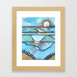 South End Sunset - New Jersey Framed Art Print