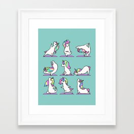 Unicorn Yoga Framed Art Print