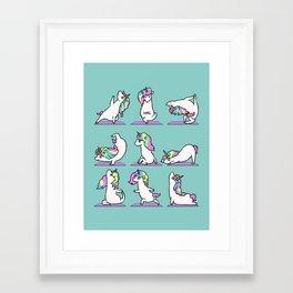 Unicorn Yoga Framed Art Print
