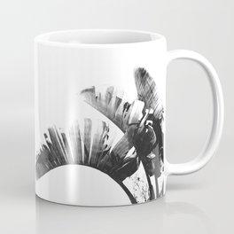 Palm leaves black and white tropical watercolor Coffee Mug