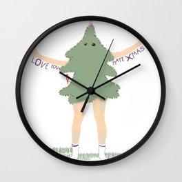 Xmas Tree Guy (Nils) Wall Clock