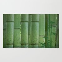 bamboo Area & Throw Rugs featuring Bamboo by Anne Seltmann