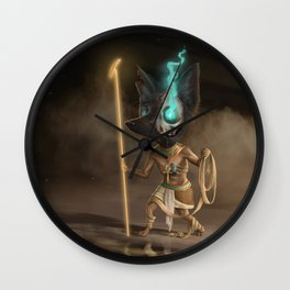 Anubis, old God of mummification and the afterlife Wall Clock