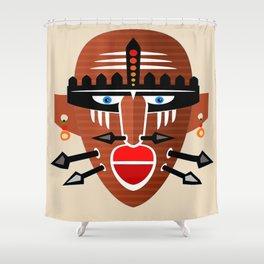 Tribal Mask II Shower Curtain