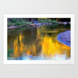 Autumn falls Art Print