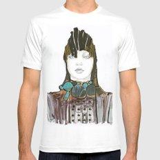 Warrior fashion portrait White Mens Fitted Tee MEDIUM