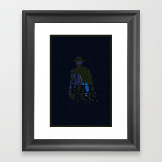 """The Man With No Name"" is a Badass Framed Art Print"