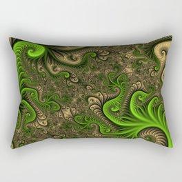Fantasy World II, Abstract Fractal Art Rectangular Pillow