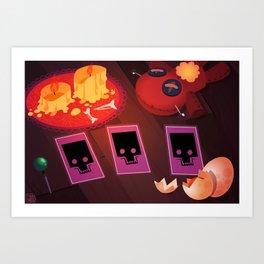 Voodoo table Art Print