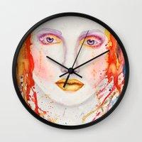 splatter Wall Clocks featuring Splatter by Funkygirl4ever95