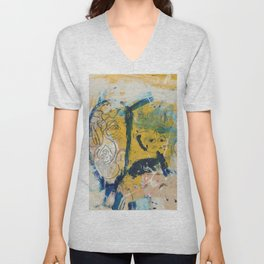 blue cat home Unisex V-Neck