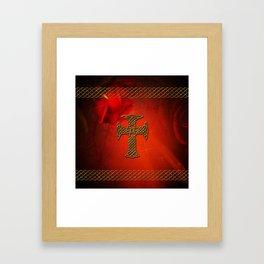 Wonderful celtic cross Framed Art Print